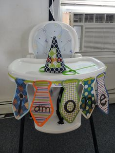 Little Man Party Highchair Banner by CadabraCrafts on Etsy, $12.00