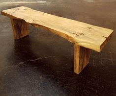 This bench was made from salvaged wood. I'd like to know how to make things like this.