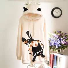 Hooded cat ears sweet cute fleece thick hoodie from Fashion Store