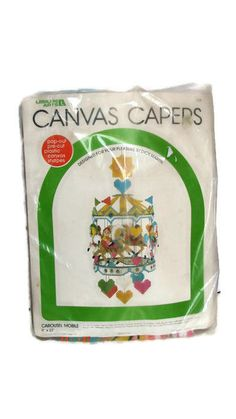 Leisure Art Canvas Caper Carousel Mobile 1983 Needlepoint Kit 128 Horse NEW Baby #LeisureArts