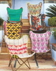 Karma Living Butterfly Kantha Chair- DIY-Buy the frame used, take the seat off, use as a pattern to create your own for much less than $216