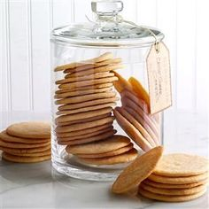 Crisp Sugar Cookies Recipe -My grandmother always had sugar cookies in her pantry, and we grandchildren would empty that big jar quickly because they were the best! I now regularly bake these wonderful cookies to share with friends. —Evelyn Poteet, Hancock, Maryland