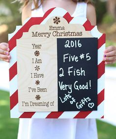 Loving this 'Merry Christmas' Personalized Chalkboard Photo Prop Sign on #zulily! #zulilyfinds