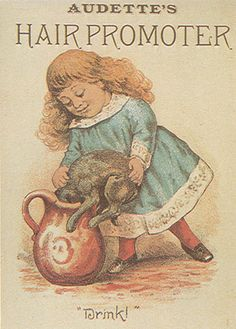 Audette's Hair Promoter vintage trade card