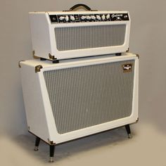 Tone King Galaxy White amp and cabinet