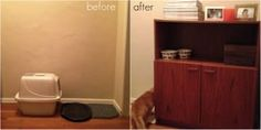 Thrifted Cabinet Refurbish 27 Useful DIY Solutions For Hiding The Litter Box Crazy Cat Lady, Crazy Cats, Animal Projects, Diy Projects, Cat Litter Cabinet, Hidden Litter Boxes, Diy Cabinets, Diy Stuffed Animals, Pet Tips
