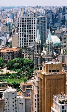 Catedral da Sé / Tribunal de Justiça / Fórum João Mendes - São Paulo