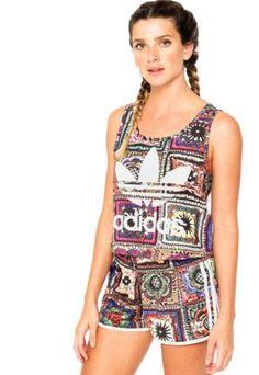 Regata ADIDAS Originals + Farm Crochita Cropped Roxa