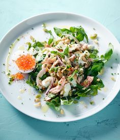 Hot-smoked trout and egg salad recipe, Pete Evans :: Gourmet Traveller