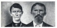 Nancy L McCoy Hatfield Phillips and Frank Phillips. She was the daughter of Asa Harmon McCoy, the first McCoy killed by the Hatfield gang. After the Hatfields killed her brother Jeff she divorced Johnse Hatfield and married KY lawman Frank Phillips. Frank led the posse that arrested 9 and killed 2 of the Hatfield gang.