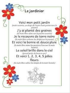 French Poems, Circle Time Songs, French Nursery, Spring Song, French Teacher, Teaching French, Petite Section, French Language Learning, Teaching Social Studies