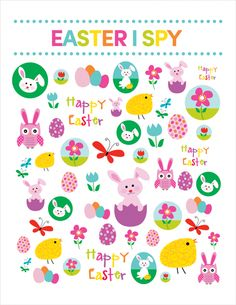 Easter I SPY Printable