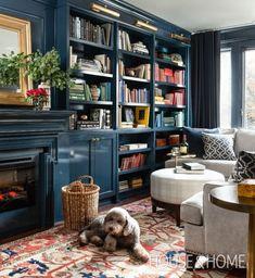ideas living room black furniture cozy bookshelves for 2019 Pastel Living Room, Cozy Living Rooms, Living Room Decor, Smart Furniture, Black Furniture, Furniture Ideas, Saarinen Tisch, Blue Bookshelves, Bookcases