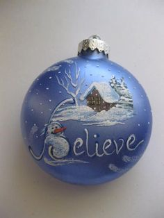 Hand Painted Ornament Ideas | Hand Painted Glass Ornaments