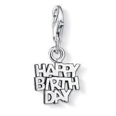Thomas Sabo Charm Club Sterling Silver Happy Birthday Charm