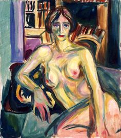Nude, Sitting on the Couch Edvard Munch - 1925-1926