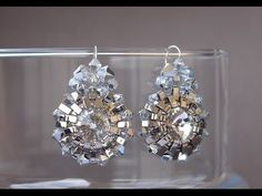 Beaded Earrings - Half Tila Earrings - Jewerly Making Tutorial: Beaded earrings made bezelling rivolis with Miyuki half tila beads, Swarovski bicones and seed beads Diy Jewelry, Beaded Jewelry, Handmade Jewelry, Fashion Jewelry, Earring Tutorial, Jewelry Making Tutorials, Selling Jewelry, Bead Earrings, Tutorials