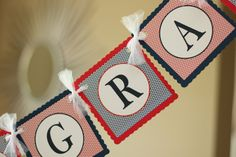 Graduation banner Collegiate banner college by sweetshoppepaperie, $26.00
