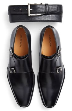 Magnanni 'Miro' Double Monk Strap Shoe (Men) at Nordstrom.com. Handsomely burnished leather structures a sleek, Euro-inspired shoe topped by a classic double monk strap.