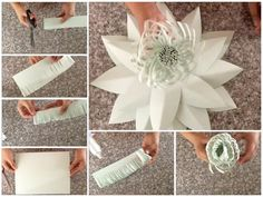 "613 Likes, 19 Comments - Danielle Gonzales (@backdropinabox) on Instagram: ""And that's how you make one of my paper flower centers the flower template is number 20 TO…"""