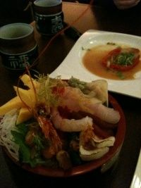 Yuzu Sake and Sushi Bar - Japanese Restaurant in Downtown Toronto - WikiTO - The Toronto Wiki Downtown Toronto, Cafe Bar, Sashimi, Restaurant, Japanese, Chicken, Ethnic Recipes, Platter, Shops