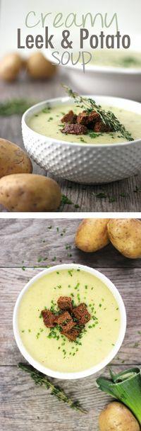 Creamy Vegan Leek and Potato Soup Recipe - Healthnut Nutrition