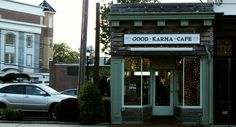 Good Karma Cafe in Red Bank, NJ.  The place to go for yummy organic vegan food!