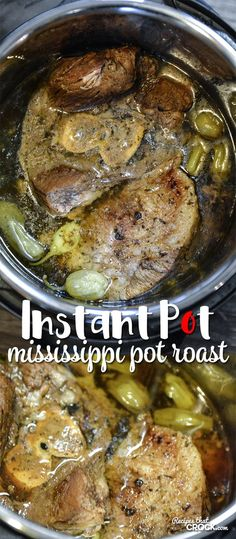 1/2 cup Pepperoncini, Juice. 6 Pepperoncinis. 1/2 cup Beef broth. 1 envelope Au jus gravy mix. 1 envelope Ranch dressing mix. 1/4 cup Butter. 5-6 lb Chuck or Arm Roast.