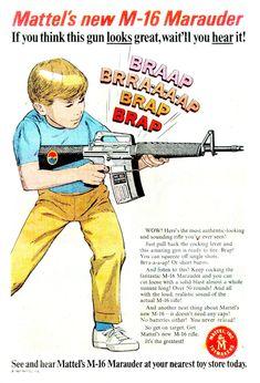 1950s Mattel toy gun M-16 Marauder ad poster 13 x 19 GIclee Print | eBay