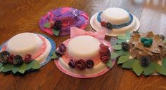 Paper Plate Bonnets I remember making these with my kinders in Denver when I was teaching....such a cute easy idea...