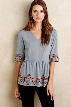 Skirted Calipha Blouse - anthropologie.com