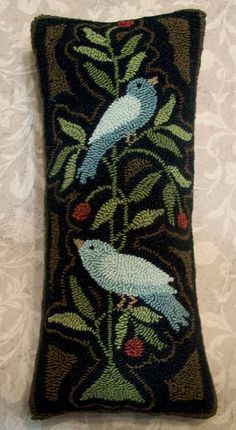 Primitive Needle Punch PATTERN 2 Blue Birds On A by thetalkingcrow, $8.00