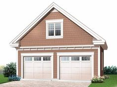 Craftsman Style House Plan - 0 Beds 0 Baths 939 Sq/Ft Plan Eplans Garage Plan - Detached Garage Plan - 315 Square Feet and 0 Bedrooms from Eplans - House Plan Code 2 Car Garage Plans, Garage Plans With Loft, Loft Plan, Garage Apartment Plans, Garage Apartments, Garage Ideas, Garage Attic, Garage Blueprints, Garage Doors