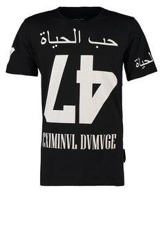 Criminal Damage LOVE LIFE - T-Shirt print - black - Zalando.de