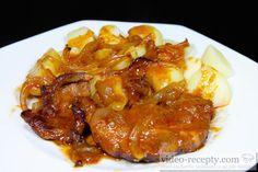 Recept Lahodná marinovaná krkovice - krkovice - návrh na servírování