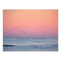 Ocean City, New Jersey Pastel Sunrise Postcard #oc #ocnj #postcard