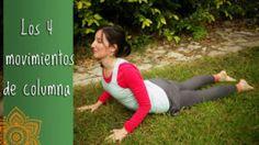 4 movimientos de columna, flexión hacia adelante y hacia atrás, torsión y lateralización, aprendelos con esta clase online gratis! #yoga