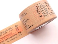 Washi tape, Ticket masking tape, Japanese stationery, Retro ticket, Brown paper tape, Gift wrapping, Birthday dacor, Kawaii Japanese, Scrap by WashiTapeAddictClub on Etsy