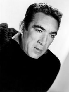 Anthony Quinn, The Wild Party, 1956 Golden Age Of Hollywood, Vintage Hollywood, Hollywood Stars, Classic Hollywood, Hollywood Icons, Most Beautiful People, Beautiful Men, Lion Of The Desert, Zorba The Greek