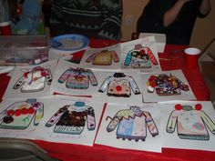 Ugly Christmas  sweater craft -Find an sweater template on google images, throw some crafting items, glue and markers on a table, you have the making of an ugly sweater design contest.  The Girls loved it.