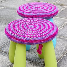 Ikea Hack - upcycling old Mammut stool with quick and easy crochet cover. Thanks so for share xox