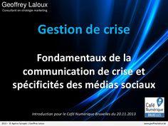 Fondamentaux de la communication de crise by SYNAPTIC #BadBuzz #Slideshare