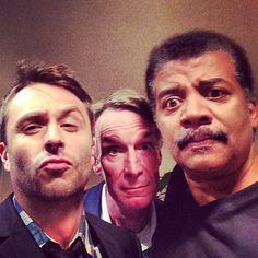 Chris Hardwick, Bill Nye & Neil deGrasse Tyson A Trifecta of awesome