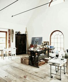 Stunning, bright industrial studio.