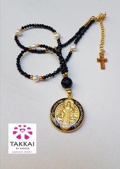 St Benedict Necklace, St Benedict Black Necklace  #etsyshop #etsyjewelry #takkaibykarina #catholicgift #stbenedict #religiousgift ##bijouxfantaisie #blacknecklace #fashion #catholicnecklace #bijouxcreateur #confirmation #mothersdaygift