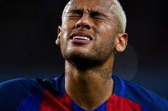 Neymar JR Photos Photos - Neymar Jr. of FC Barcelona reacts during the La Liga match between FC Barcelona and Club Atletico de Madrid at the Camp Nou stadium on September 21, 2016 in Barcelona, Spain. - FC Barcelona v Club Atletico de Madrid - La Liga