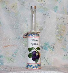 Darčeková fľaša na slivovicu Všetko najlepšie