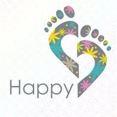 Happy Feet are Healty Feet! Massage Websites, Happy Logo, Massage Marketing, Make Your Own Logo, Reflexology Massage, Salon Design, Logo Maker, Feet Care, Business Logo