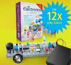 Kit De Eletronica Para Montar, Aprender E Se Divertir - R$ 207,00