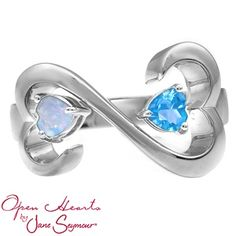 Jared - Color Stone Couple's Heart Ring